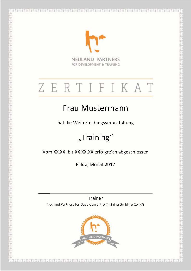 Neuland Partners For Development Training Die Neuland